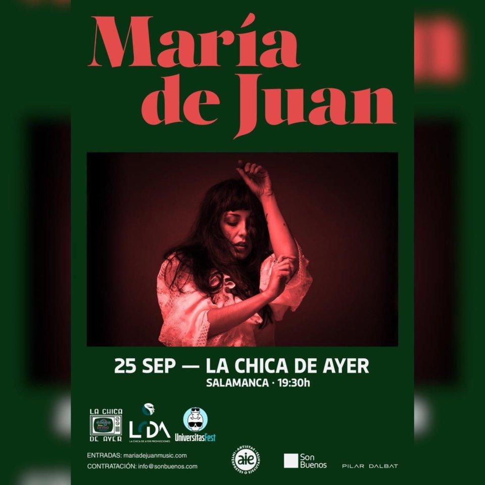 La Chica de Ayer María de Juan Salamanca Septiembre 2021