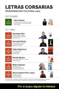 Letras Corsarias Programación Cultural 2021 Salamanca Septiembre octubre