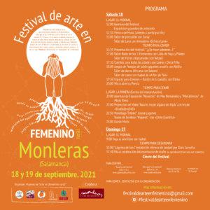 Monleras Festival de Arte en Femenino Rural Septiembre 2021