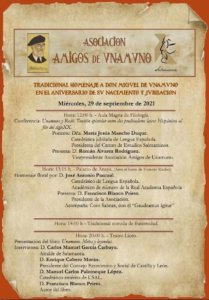 Salamanca Homenaje a Miguel de Unamuno Septiembre 2021