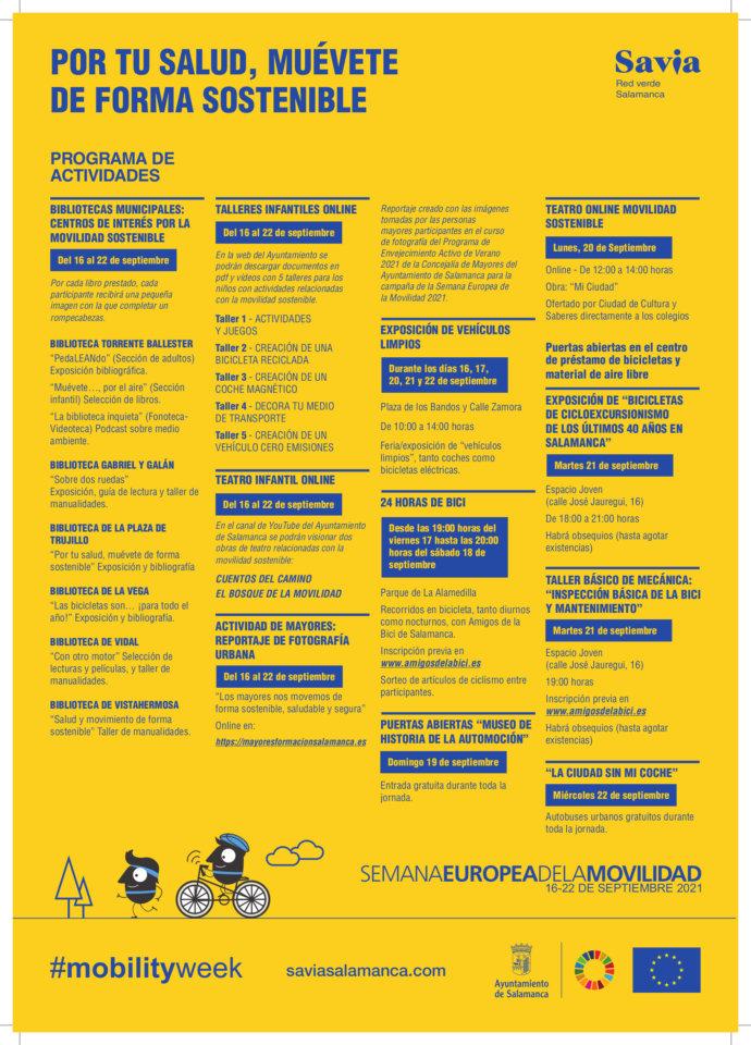 Salamanca Semana Europea de la Movilidad 2021 Septiembre