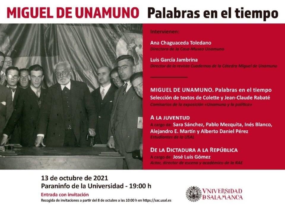 Escuelas Mayores Palabras en el tiempo Salamanca Octubre 2021