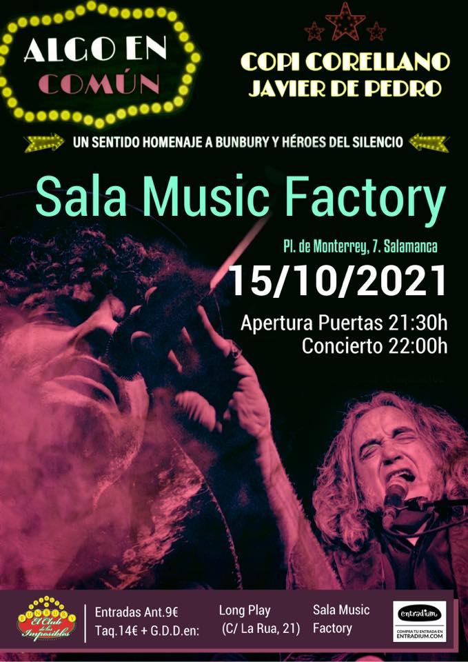 Music Factory Copi Corellano y Javier de Pedro Salamanca Octubre 2021