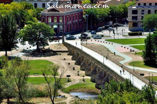 Puente Romano, desde las alturas de la Catedral Nueva de Salamanca