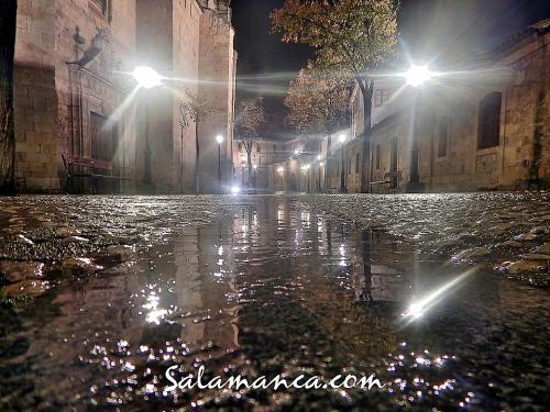 Salamanca, mojada por la lluvia