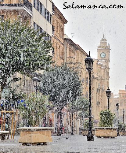 Regresó la nieve a Salamanca