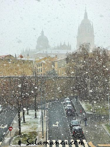 Salamanca sorprendida por la nieve (I)