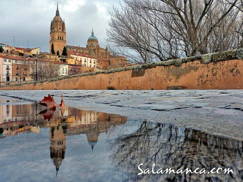 Salamanca, reflejos tras la nevada