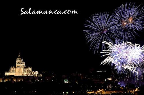 Fiestas de San Juan... Fuegos artificiales en la noche de Salamanca