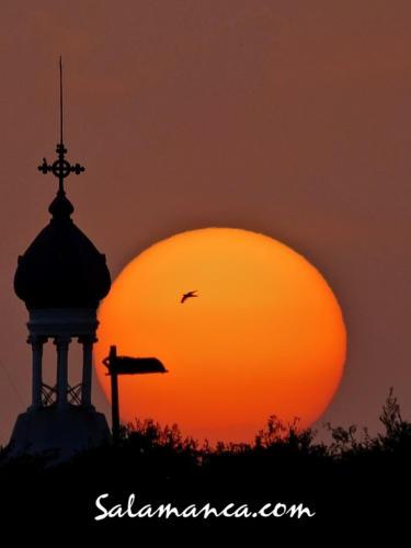 Salamanca y el sol que se esconde