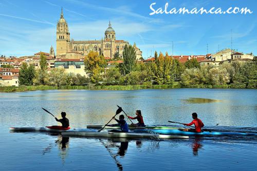 Salamanca, ¿qué mejores vistas para remar un rato?
