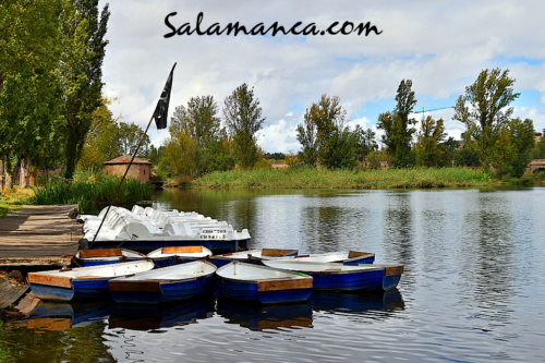 Salamanca, una matinal de barcas en el Tormes