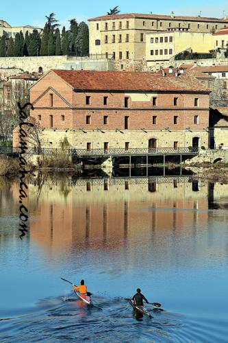 Salamanca... Mañanas de invierno, Tormes y piraguas