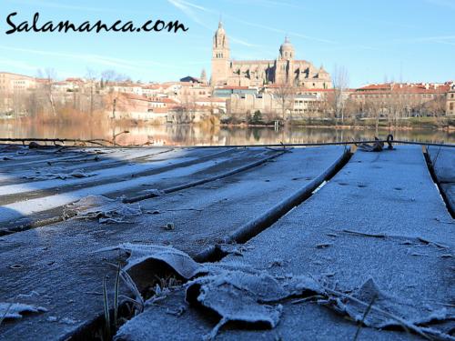 Salamanca y esas mañanas de enero de cencellada