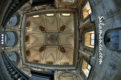 Mirando al cielo del Palacio de Anaya