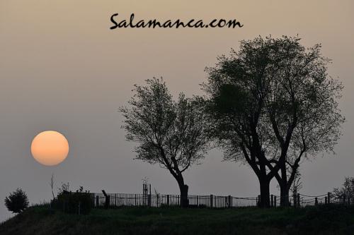 Salamanca despidiendo el sol por el cerro de San Vicente