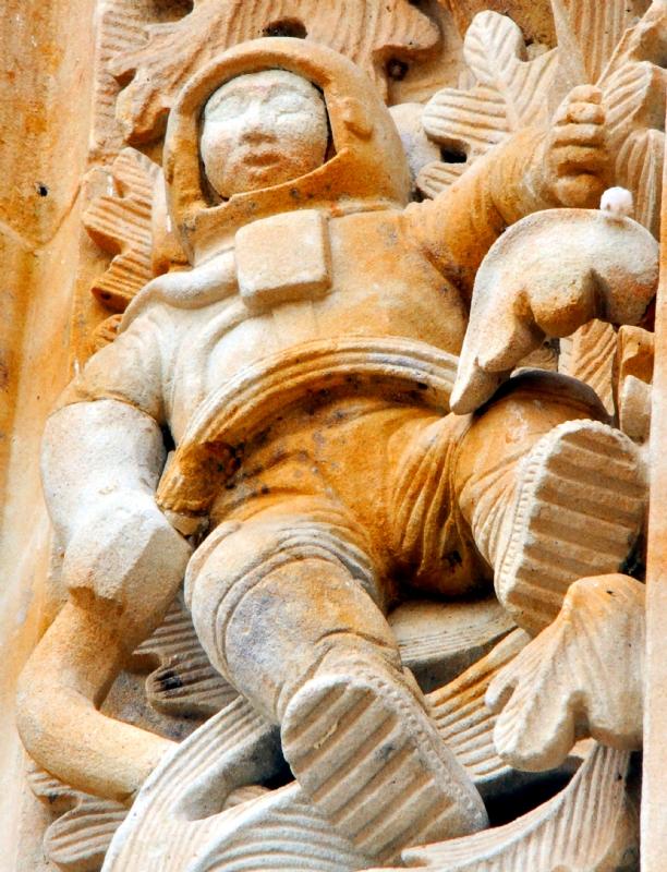 Astronauta en la Catedral Nueva de Salamanca.