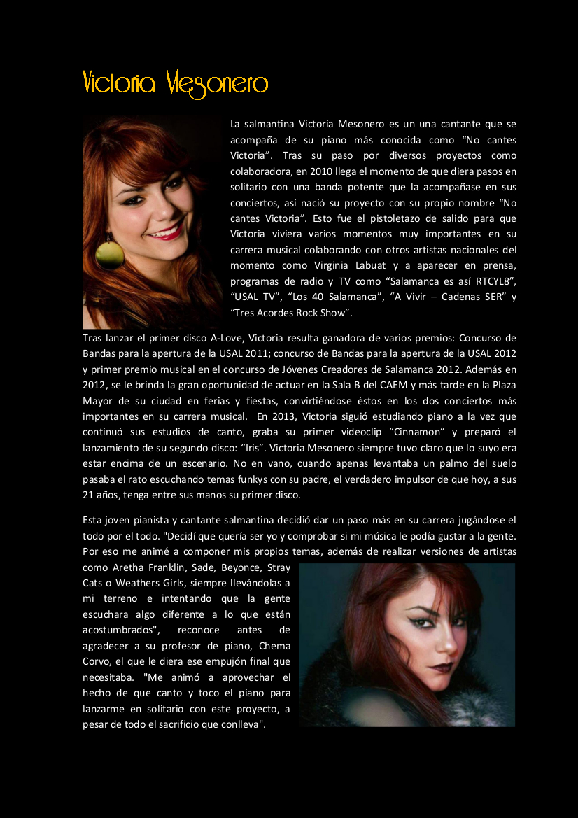 Victoria Mesonero - Las noches de Lis_2017 SUMMERTIME