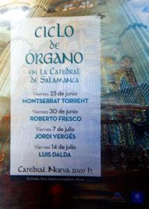 Ciclo de Órgano en la Catedral de Salamanca, 2017