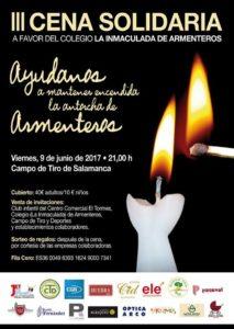 III Cena Solidaria, Colegio La Inmaculada, Armenteros