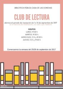 Club de Lectura, Casa de las Conchas 2017-2018