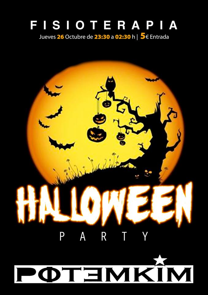 Fiesta de Fisioterapia Halloween Potemkim Salamanca Octubre 2017