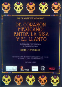 Día de Muertos Mexicano De corazón mexicano: Entre la risa y el llanto Casa de las Conchas Salamanca Octubre noviembre 2017