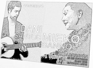 Dani Santos + Mieko Banno El Alcaraván Salamanca Octubre 2017