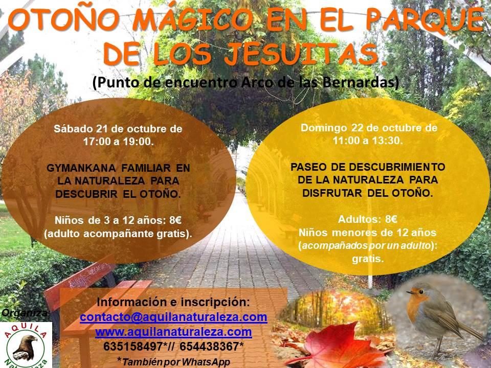 Otoño Mágico en el Parque de los Jesuitas Aquila Naturaleza Salamanca Octubre 2017