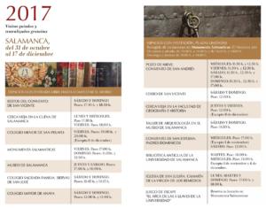X Las Llaves de la Ciudad Salamanca Octubre noviembre diciembre 2017