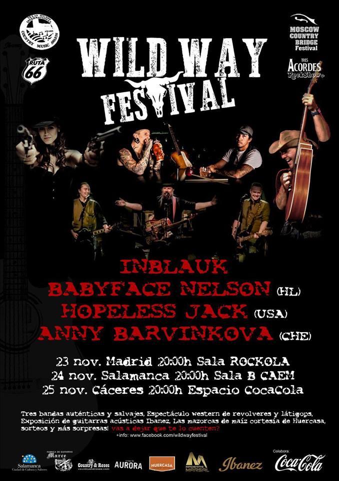CAEM Wild Way Festival Conciertos Sala B Salamanca Noviembre 2017