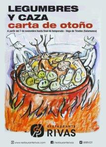 Restaurante Rivas Legumbres y caza Vega de Tirados 2017-2018
