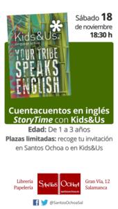 Santos Ochoa Salamanca La hora del Cuento en inglés Noviembre 2017