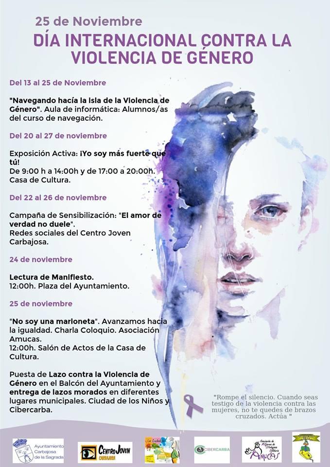Día Internacional contra la Violencia de Género Carbajosa de la Sagrada Noviembre 2017