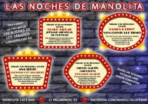 Manolita Café Bar Las noches de Manolita Salamanca Noviembre diciembre 2017