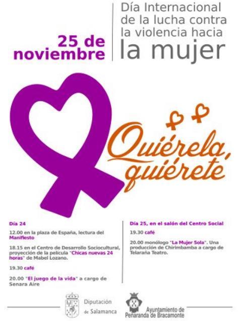 Día Internacional contra la Violencia hacia la Mujer Peñaranda de Bracamonte Noviembre 2017