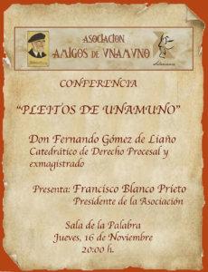 Teatro Liceo Pleitos de Unamuno Salamanca Noviembre 2017