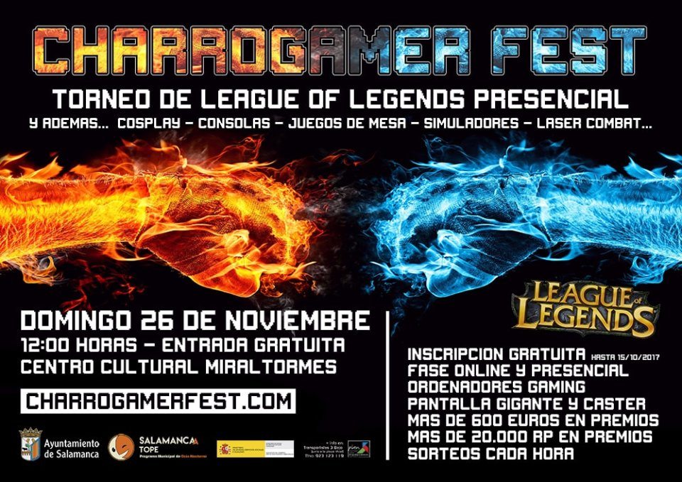 Miraltormes Charrogamer Fest Salamanca Noviembre 2017