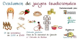 Certamen de Juegos Tradicionales Remolino de Arte Salamanca Noviembre 2017