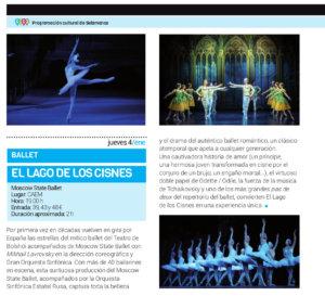 Centro de las Artes Escénicas y de la Música CAEM El lago de los cisnes Salamanca Enero 2018