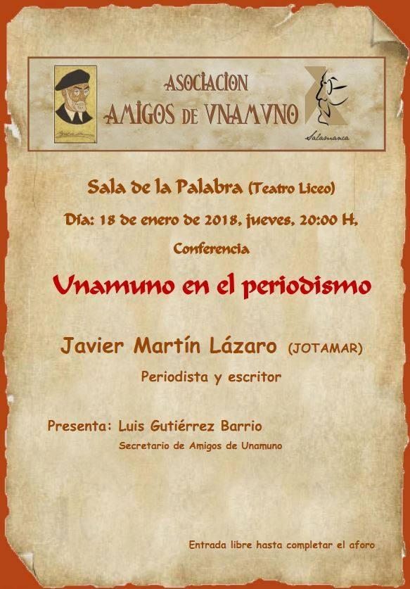 Teatro Liceo Unamuno en el periodismo Salamanca Enero 2018