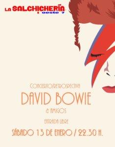 La Salchihería Oeste 7 David Bowie & sus amigos Salamanca Enero 2018