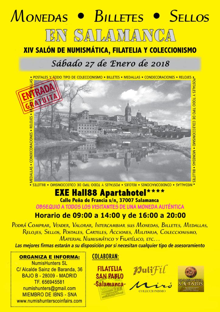 Hall 88 XIII Salón de Numismática, Filatelia y Coleccionismo Salamanca Enero 2018