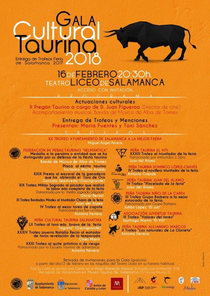 Teatro Liceo Gala Cultural Taurina Salamanca Febrero 2018