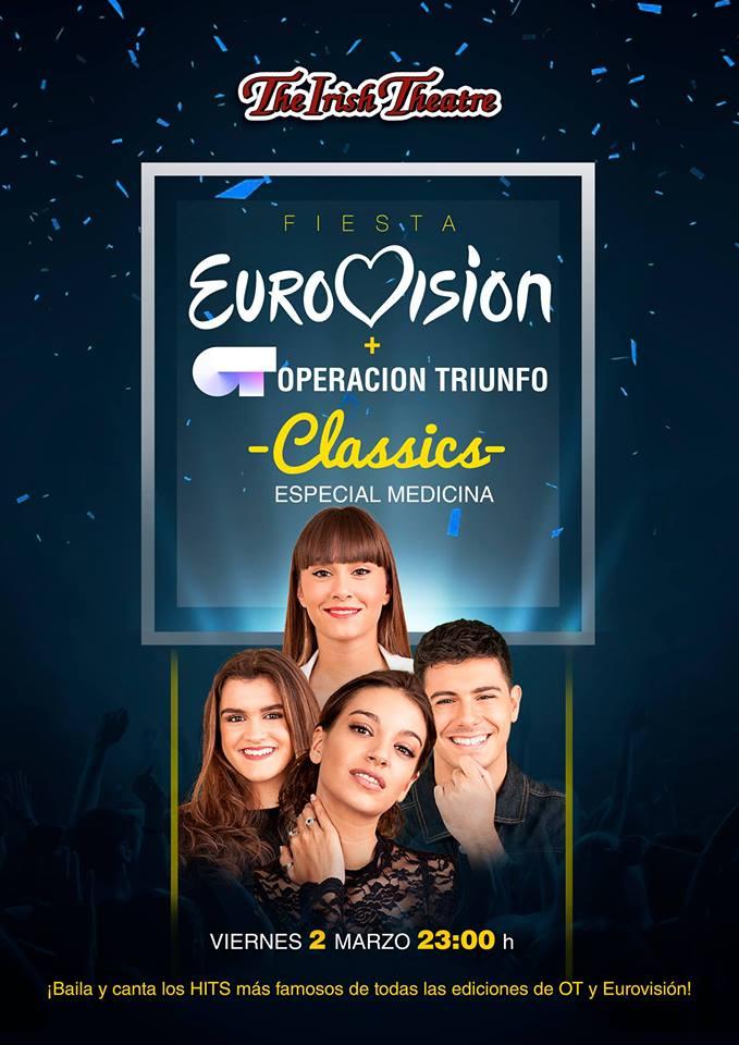 The Irish Theatre Fiesta Eurovisión + Operación Triunfo Salamanca Marzo 2018.
