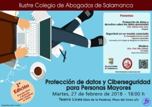 Teatro Liceo Protección de datos y ciberseguridad para Personas Mayores Salamanca Febrero 2018
