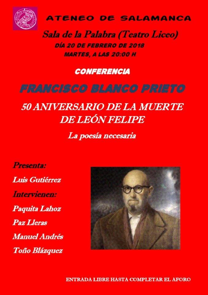 Teatro Liceo Francisco Blanco Prieto Ateneo de Salamanca Febrero 2018