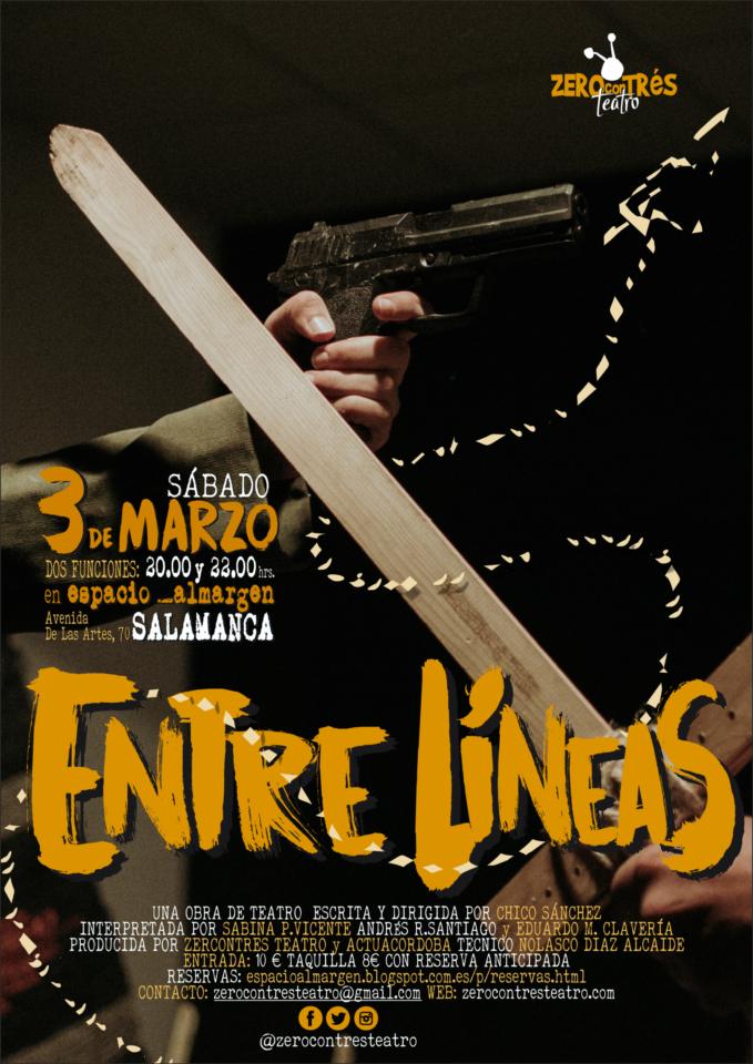 Espacio Almargen Zerocontrés Entre líneas Salamanca Marzo 2018