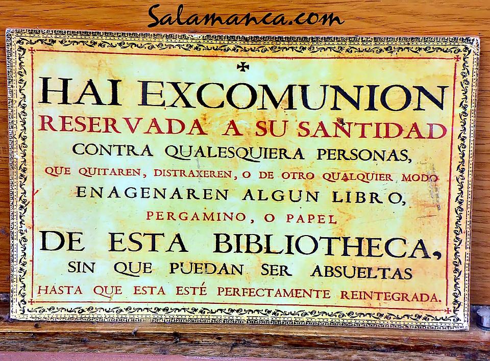 Hai excomunion… Contra ladrones de libros, pergaminos o papeles