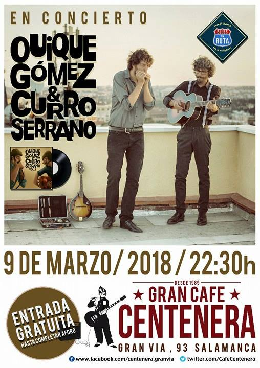 Centenera Quique Gómez & Curro Serrano Salamanca Marzo 2018